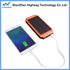LED design outdoor camping dual usb solar power bank charger with hook