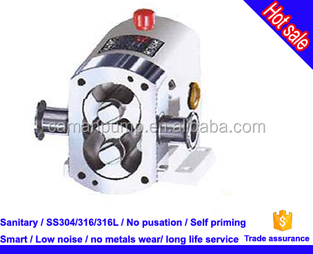 stainless steel rotary lobe pump for food industrial cooking oil etc