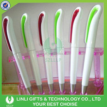 High Quality Factory Wholesale White Plastic Ball Pen,ABS Ball Pen,Clip Ball Pen