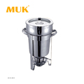 MUK hotel restaurant supplies round stainless steel 11L soup station chafing dish
