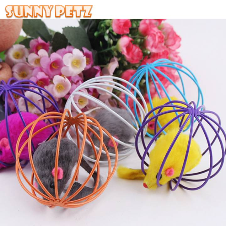 Cat Ball Caged Mouse Scratching Toys For Cat
