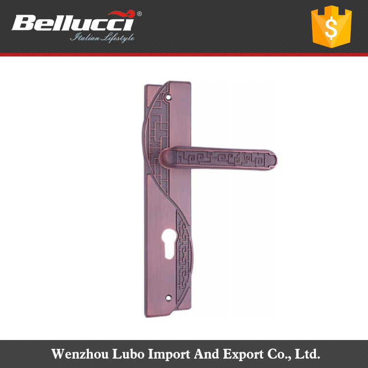 Professional Square Shape Zinc 300~390mm External Door Handle