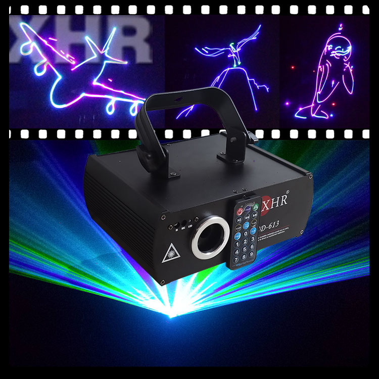 500mw Mini RGB Remote Beam Animation Writing Laser Lights Laser DMX With SD Card