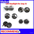 LED Headlight for Jeep jk wrangler headlight car accessories off road led lights form maiker