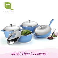 2016 indispensable cookware set die-cast cookware withstand high temperature
