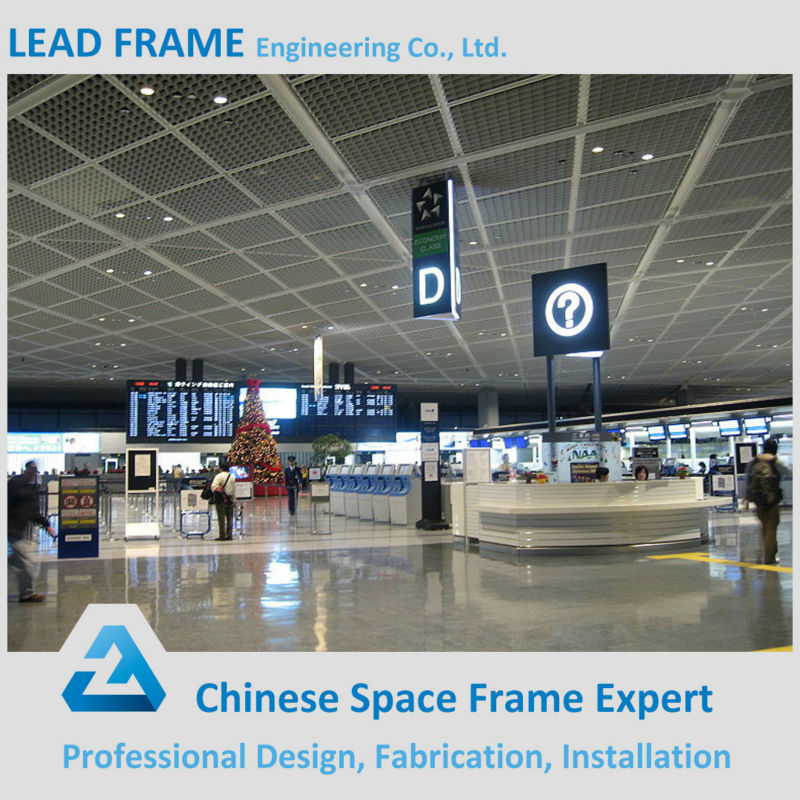 Construction Design Airport Steel Structure Outdoor Canopy Metal Roof