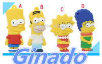 simpson family usb flash drive pen drive external storage usb pendrive 2g/4g/8g/16g/32g/64g Free shipping