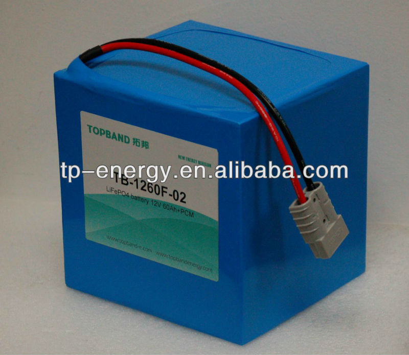 TOPBAND BATTERY Solar power LiFeO4 LFP battery 12V 60Ah