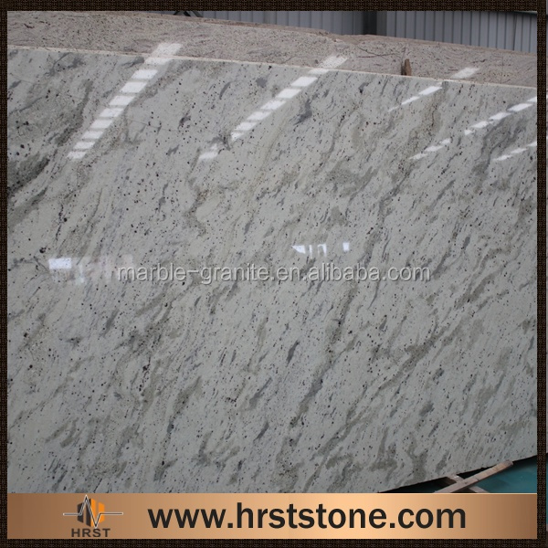 High Precision polished Andromeda White granite slab