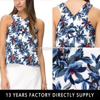 2016 New Summer Trees Pattern Printed Sexy Lady Tube Top