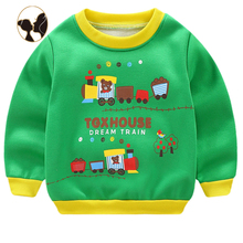 zoo pattern custom accetpable autumn winter season kids boys pullover <strong>hoodies</strong> with cotton wool lining
