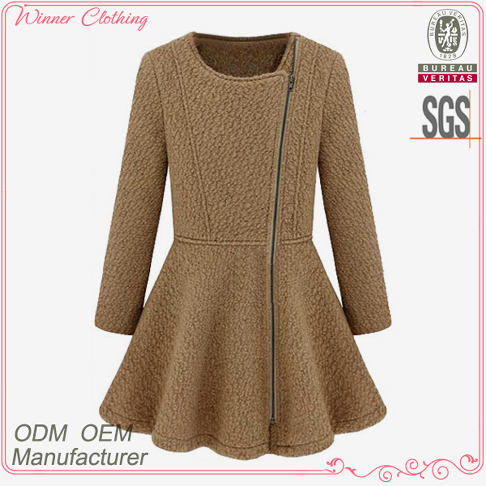 Free shipping high quality wool/polyester women's apparel