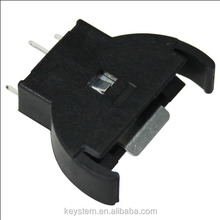 Vertical DIP cr2032 battery holder 3v cr2032 lithium battery
