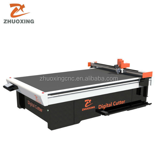 Not laser cnc automobile foot mat cutting machine by Oscillating knife