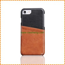 High Quality Genuine Leather One Card Slot hard phone cover case for iphone6/6plus