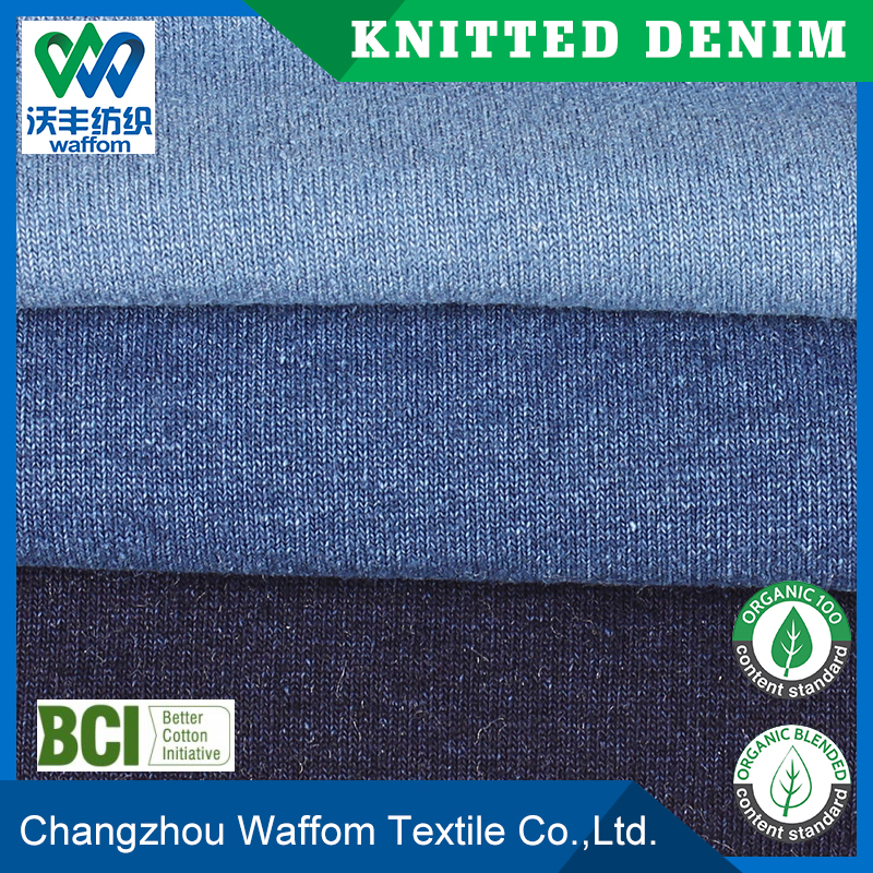 China wholesale Cotton / Polyester terry knit denim fabric for pants