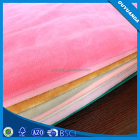 Fade Resistant Dyed Plush Polyester Blanket Velure Fabric