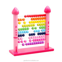 Wooden Castle Abacus Preschool Educational Counting Toys