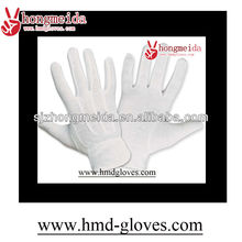 mini PVC dots white cotton glove