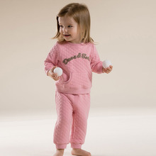 DB2680 dave bella autumn long sleeve baby pink clothing sets for girls printed sets baby clothing sets baby clothes