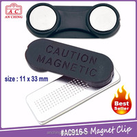 Hot Selling Products Id Card Metal Name Badge magnetic holder clip