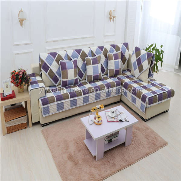Patchwork sofa cover