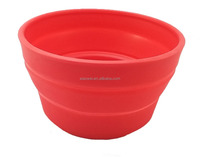 Collapsible Silicone Travel Pet Bowl for Food or Water - Dog or Cat - 1 bowl new