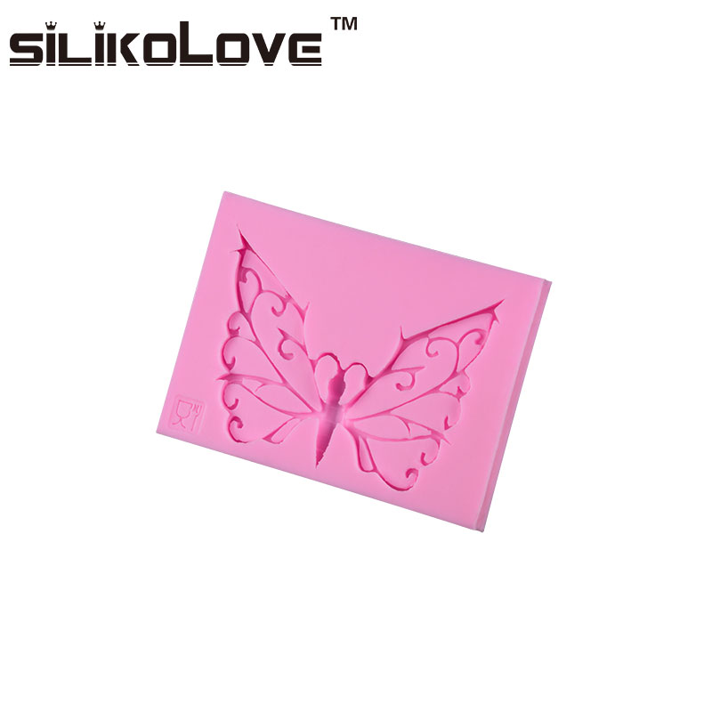 Newest Design Butterfly Shape Heat-Resistance Fondant Silicone Candle Molds For Candle Making