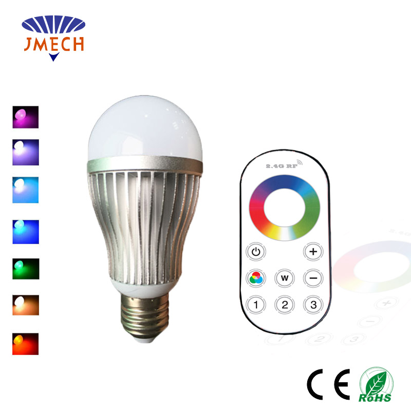 Remote Control RGBW Multi Colour (including WHITE) LED Light Bulb B22 Colour Adjustable and Dimmable, 9W, 2.4GHz