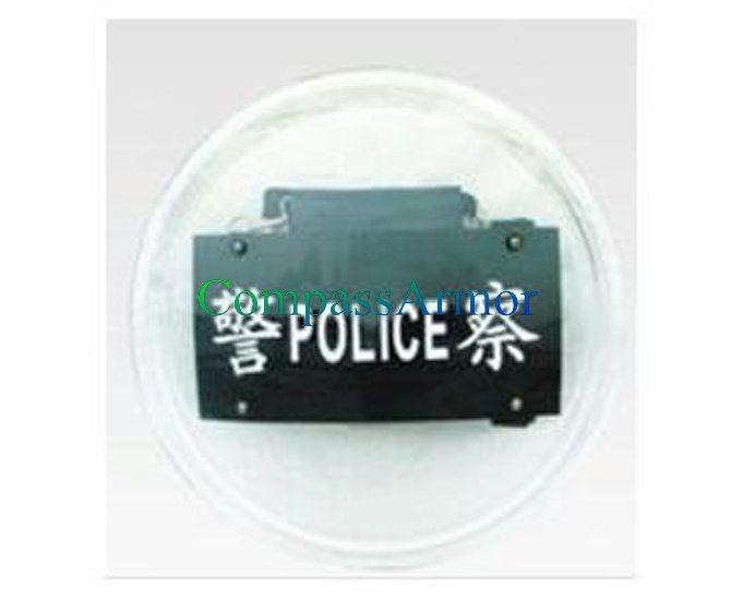 550 x 3.0 mm High Polymer Engineering Plastic Round Police Riot Shield