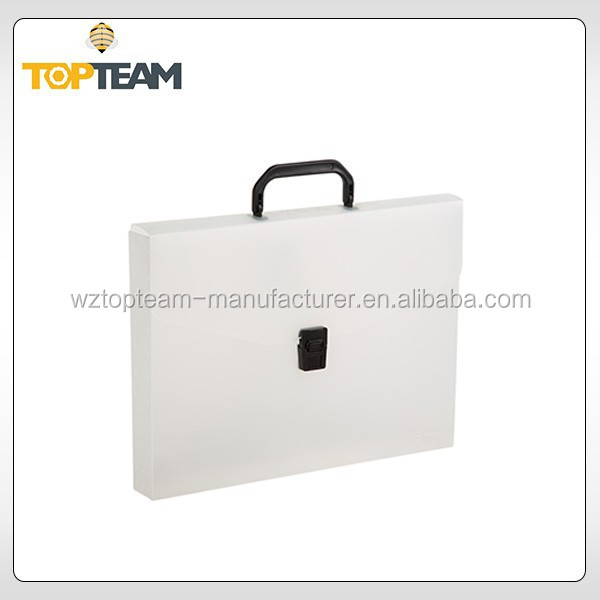 China supply office file folder with spring clip,a4 clear pp plastic box file with handle,metal clip file folder