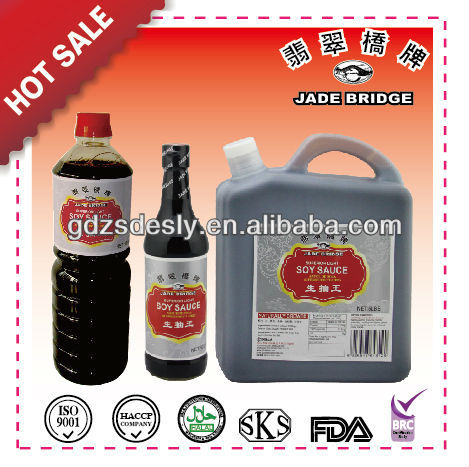For Supermarket-GMO-free Light Soy Sauces Suit 500ml,640ml,5 lbs