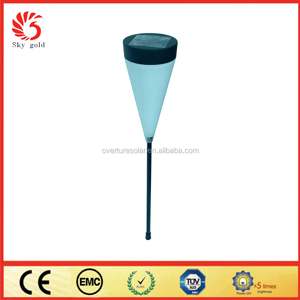 Iron +ABS material solar stake garden light for decoration