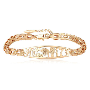 75446 Xuping competitive price simple 18k gold chain bracelet with copper alloy