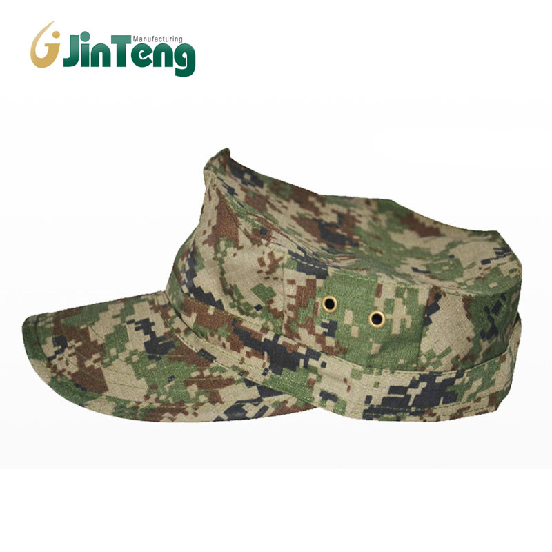 Customized Octagonal Shape Camouflage Breathable Camo Combat Hunting Caps