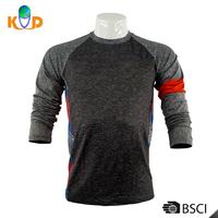 Custom Clothing 87% Polyester 13% Lycra Men Long Sleeves T-Shirt