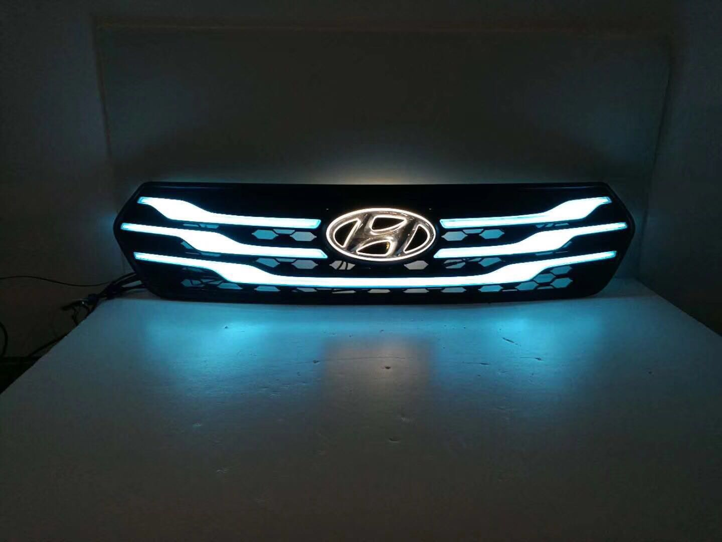 New design led grille front bumper fog lamp for creta ix25 creta grille light