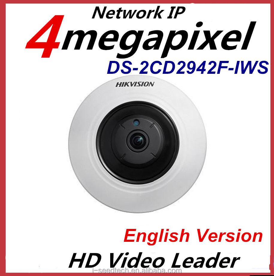 4MP Compact Fisheye Network CCTV Hikvision IP Camera DS-2CD2942F-IWS Support WiFi&Audio/Alarm