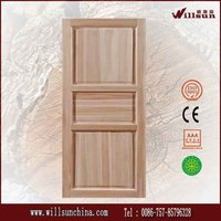 unfinished wood exterior door