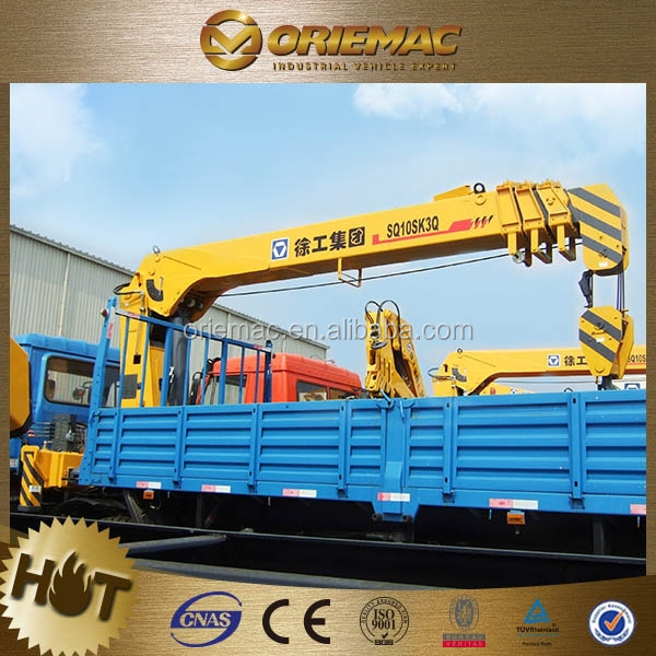 XCMG 5 tons truck mounted crane for sale SQ5SK2Q