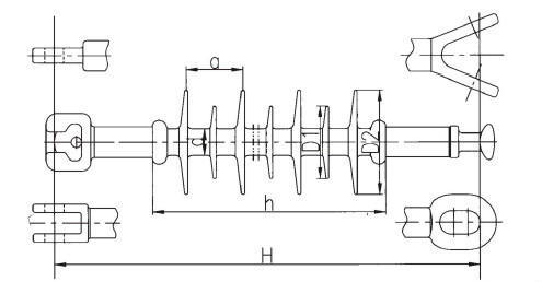 Long Rod Suspension And Strain Composite Insulator