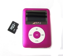 Mini MP3 music player 1.3 inch with LED light mp3 player hindi songs mp3