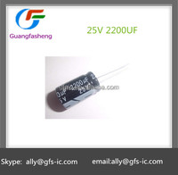 2200UF 25V 13*21mm Aluminum electrolytic capacitors