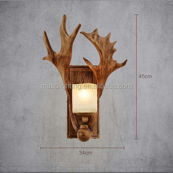 Wall sconce glass shade socket sets indoor led light crystal wall light Antler wall light vintage