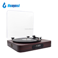 Record Player Manufacturer Wooden LP Vinyl Turntable With USB Bluetooth Radio