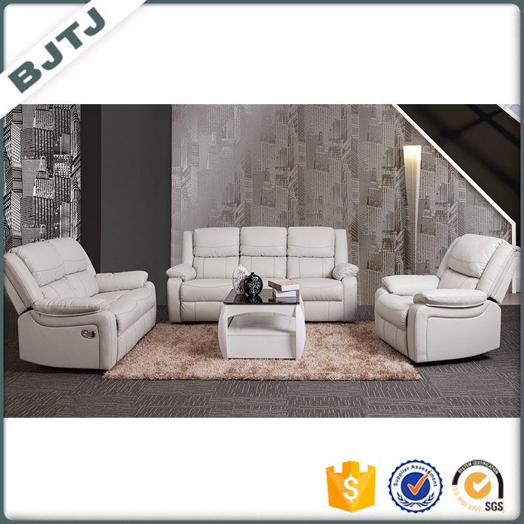 BJTJ Newest design top quality sectional leisure recliner white soft comfortable reasonable price sofa 70516