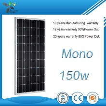 High Efficiency 150W mono Solar Panel, solar panel price india Manufacturer in China