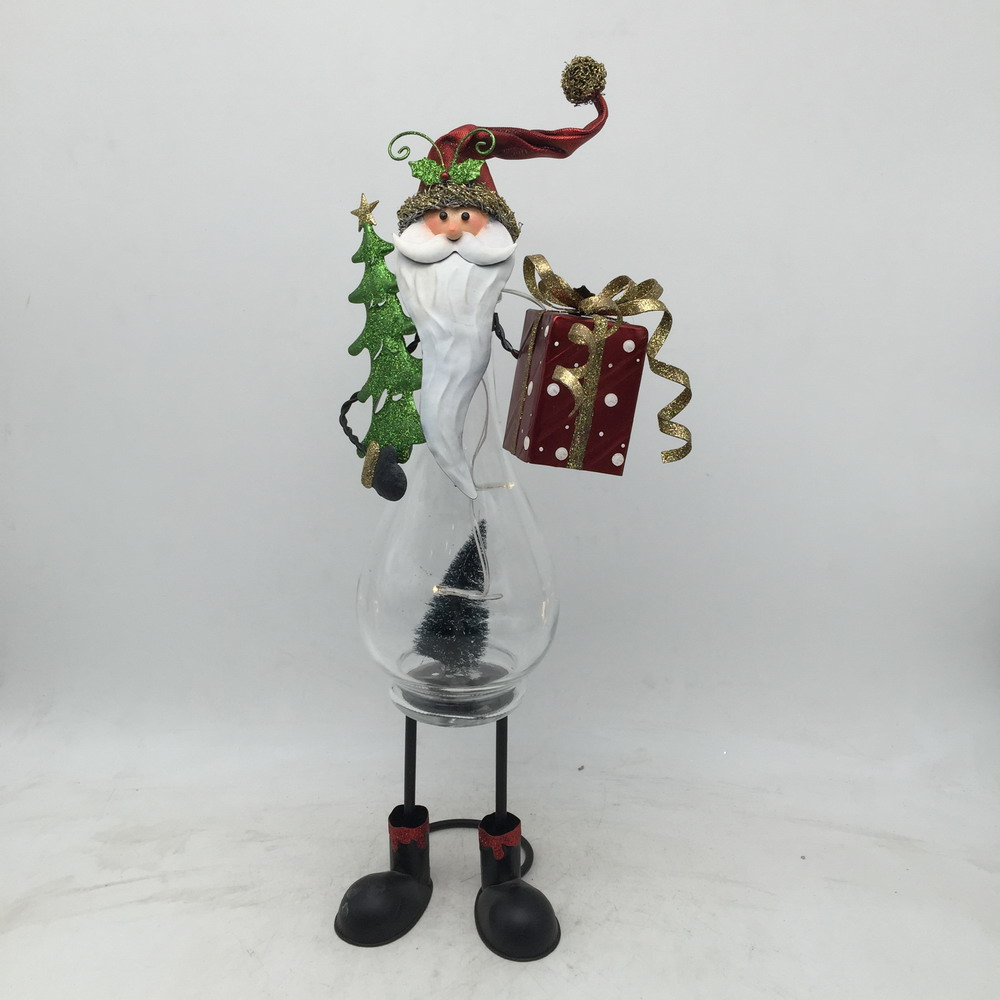 tabletop decorative santa artistic ornaments made of metal