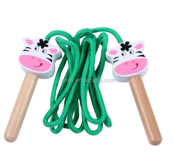 Wooden wholesale jump rope Children toys skipping jump rope Toys skipping rope crossfit