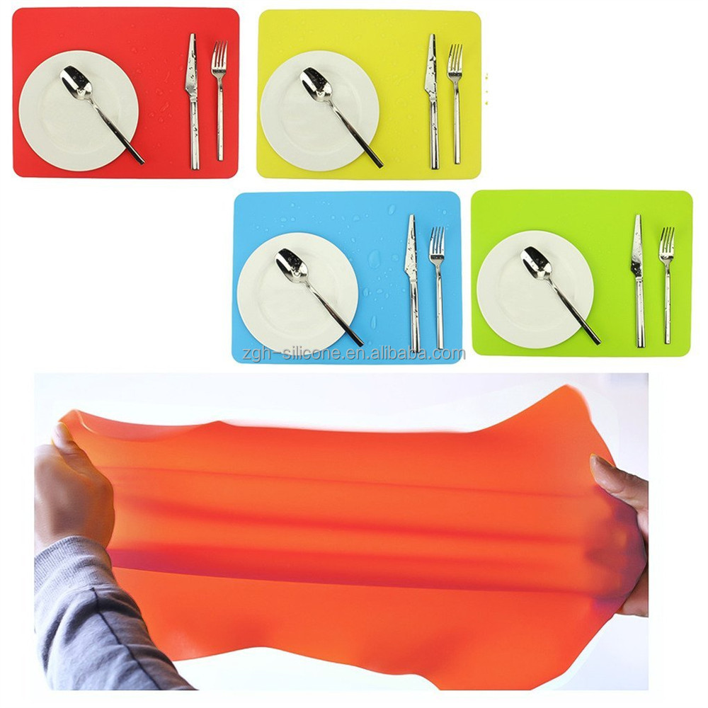 Good Quality 130G Foldable Non Stick Large Silicone Placemats